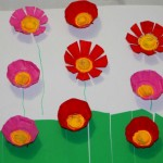 Egg carton flowers : Hands on math activity