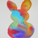 Watercolor painting ideas : positive and negative bunny